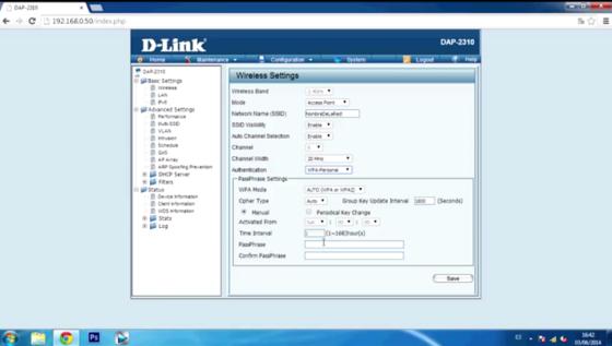 Punto de Acceso Wifi. D-link DAP-2310: Configuración.