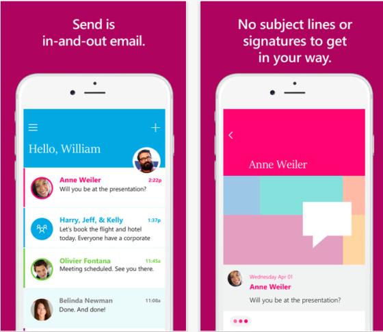 Send es la nueva app de Microsoft para enviar emails de forma instantánea