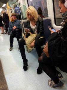 underground train smartphone